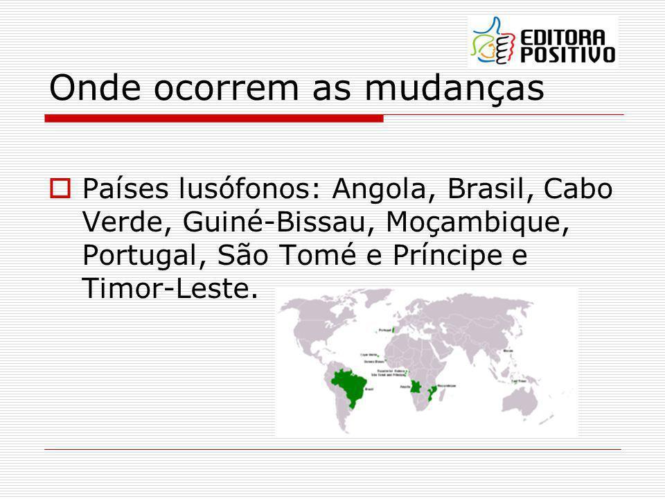 Oficialização do Acordo 1990 3 países (Brasil, Cabo Verde e São Tomé e Príncipe) ratificaram o Acordo tornando-o, portanto, oficial.