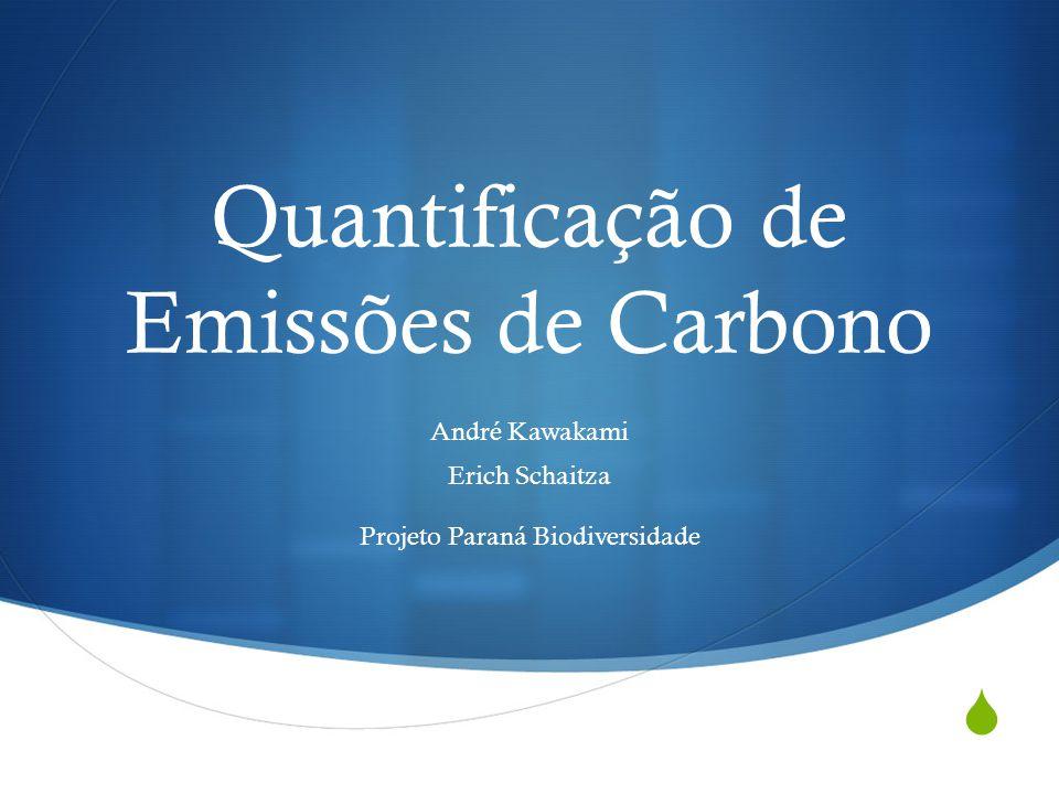 Quantificação de Emissões de Carbono André Kawakami Erich Schaitza Projeto Paraná Biodiversidade