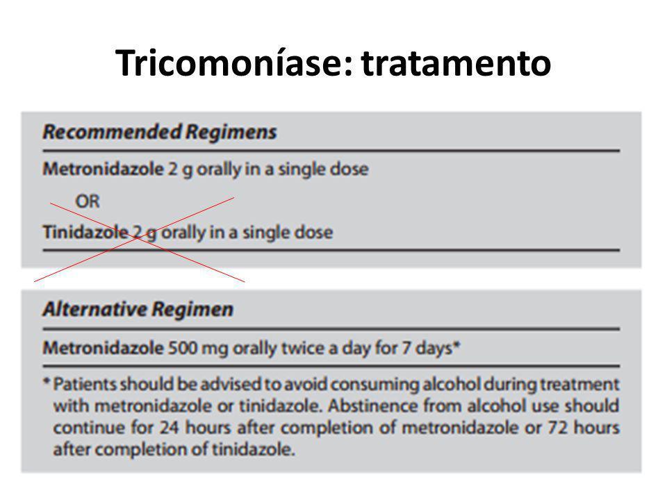 Tricomoníase: tratamento
