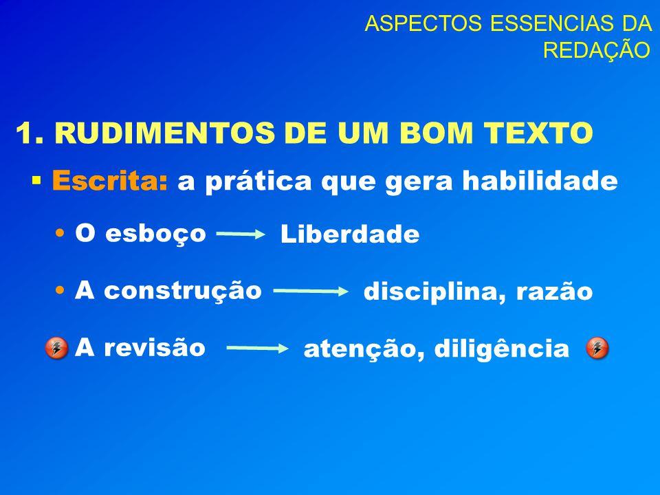ASPECTOS ESSENCIAS DA REDAÇÃO 4.ERROS E CASOS INTERESSANTES ILMO.