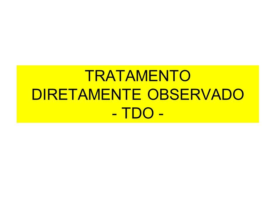 TRATAMENTO DIRETAMENTE OBSERVADO - TDO -