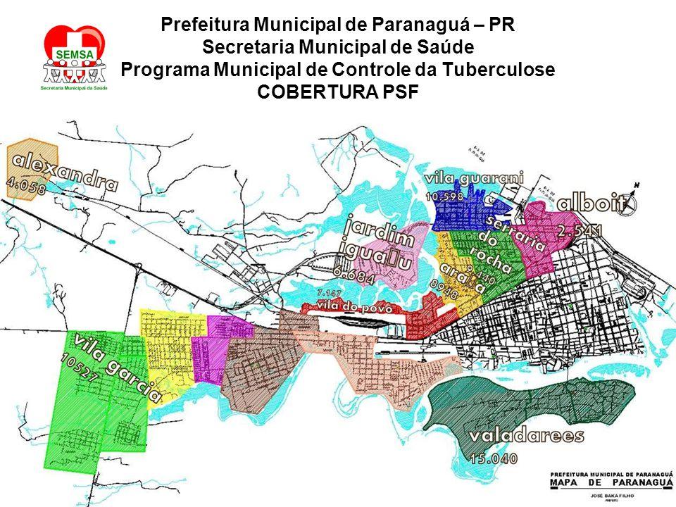 Prefeitura Municipal de Paranaguá – PR Secretaria Municipal de Saúde Programa Municipal de Controle da Tuberculose COBERTURA PSF