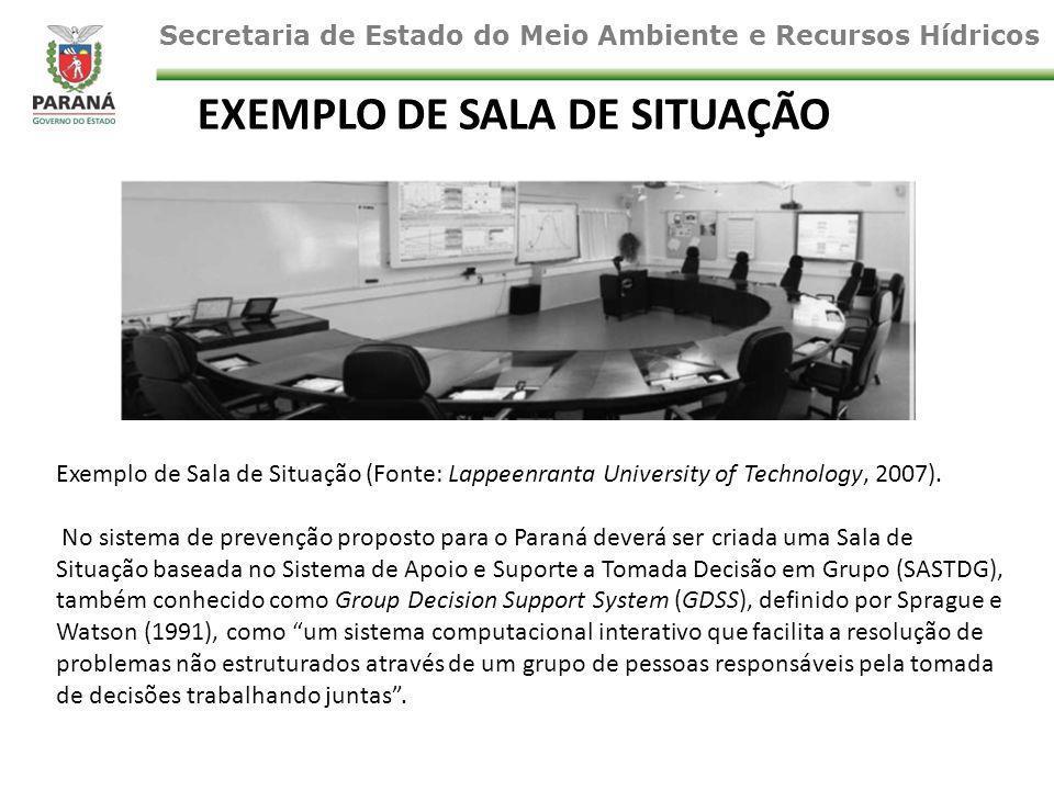 Exemplo de Sala de Situação (Fonte: Lappeenranta University of Technology, 2007).
