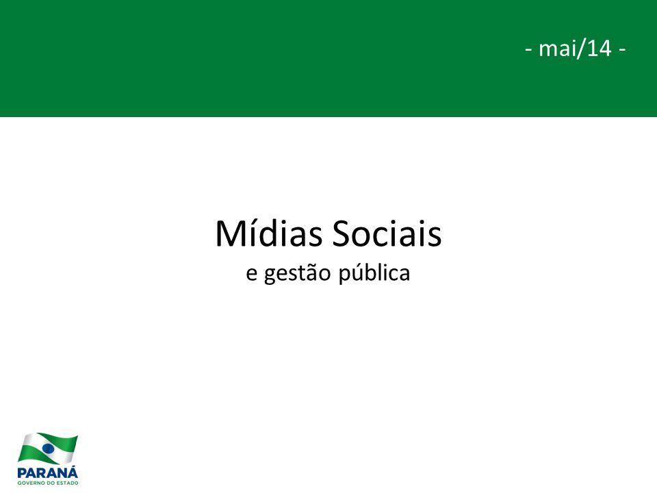 Mídias Sociais e gestão pública - mai/14 -