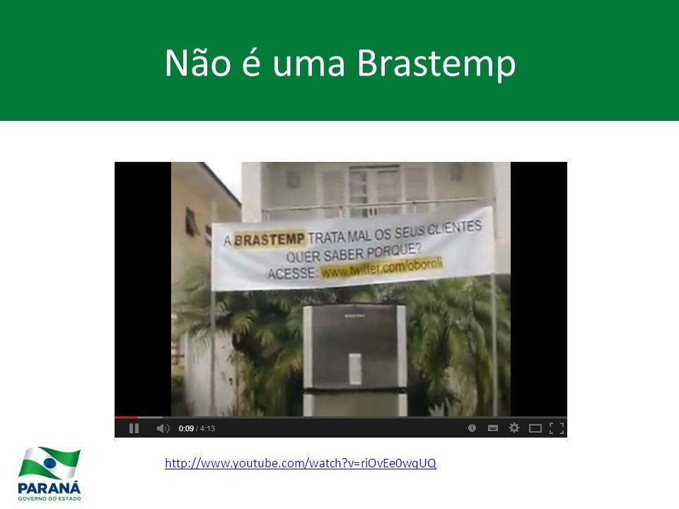 Não é uma Brastemp http://www.youtube.com/watch v=riOvEe0wqUQ