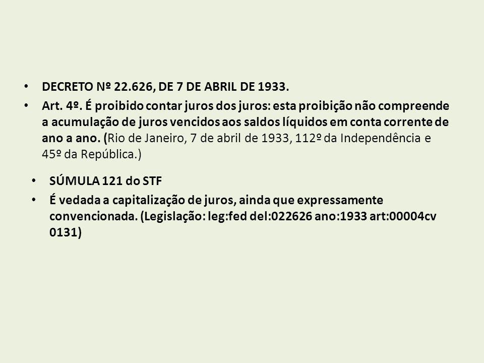 DECRETO Nº 22.626, DE 7 DE ABRIL DE 1933.Art. 4º.