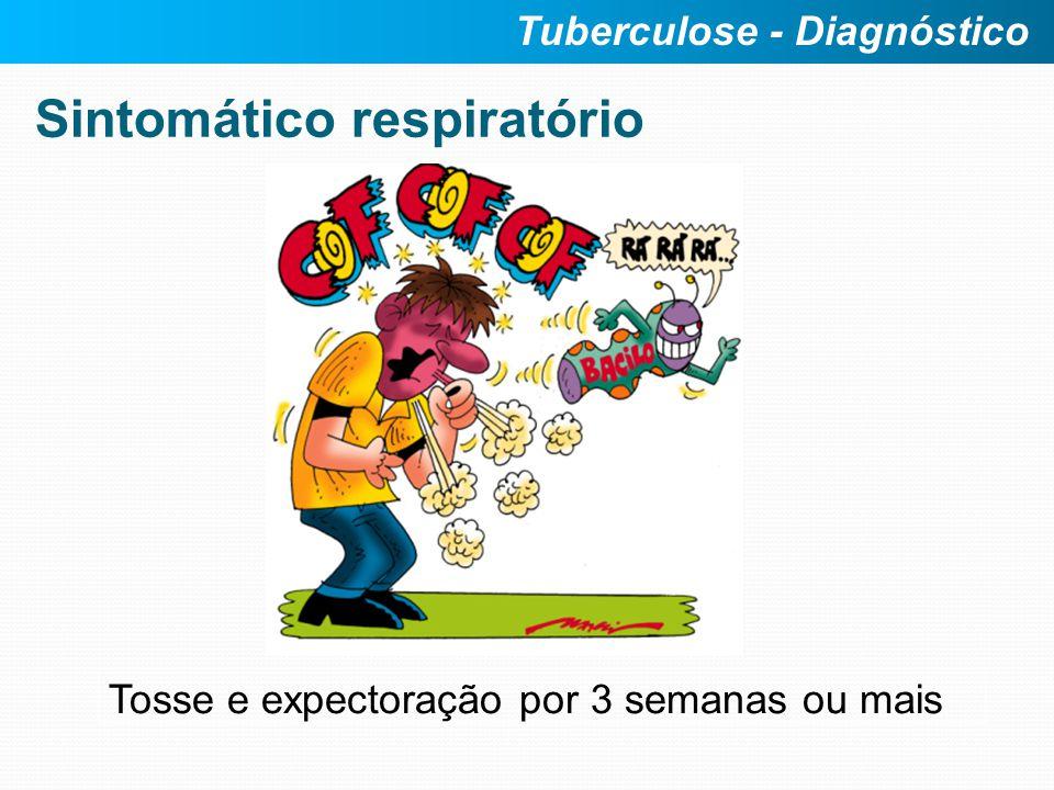 Sintomático respiratório Tosse e expectoração por 3 semanas ou mais Tuberculose - Diagnóstico
