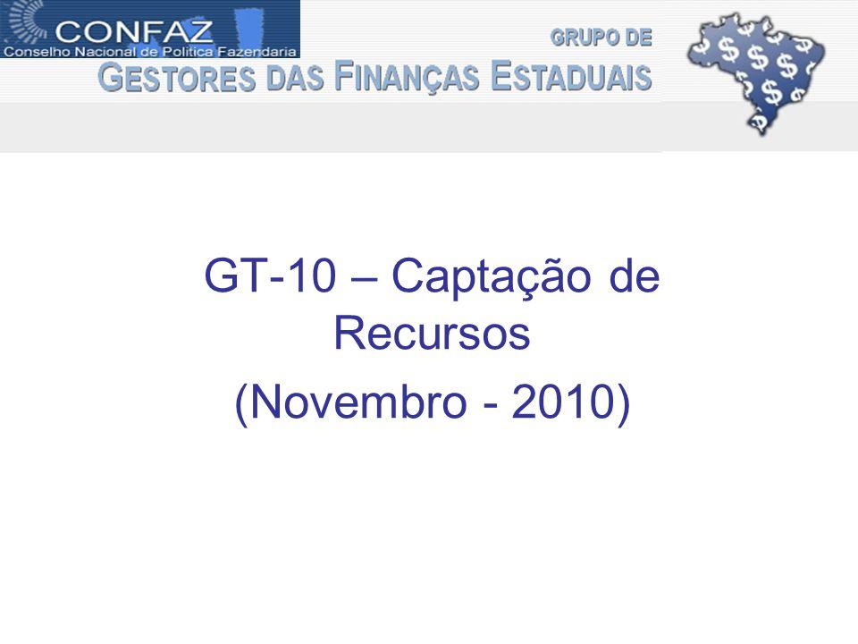 GT-10 – Captação de Recursos (Novembro - 2010)
