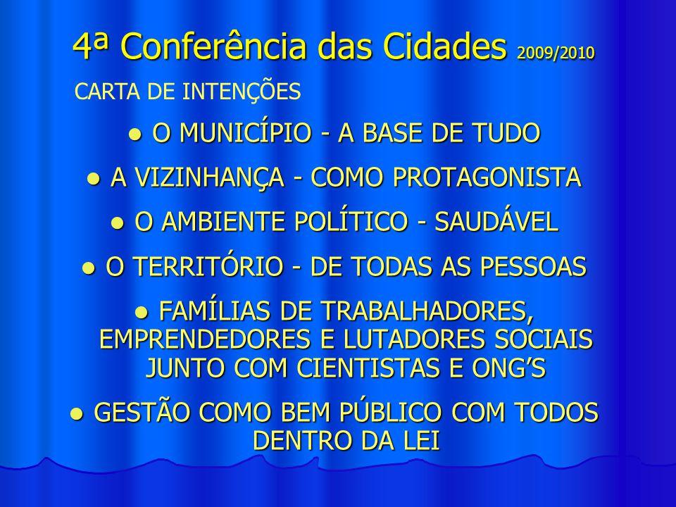 LEMA - CIDADES PARA TODAS E TODOS COM GESTÃO DEMOCRÁTICA, PARTICIPATIVA E CONTROLE SOCIAL LEMA - CIDADES PARA TODAS E TODOS COM GESTÃO DEMOCRÁTICA, PARTICIPATIVA E CONTROLE SOCIAL TEMA – AVANÇOS, DIFICULDADES E DESAFIOS TEMA – AVANÇOS, DIFICULDADES E DESAFIOS NA IMPLEMENTAÇÃO DA POLÍTICA DE DESENVOLVIMENTO URBANO TODOS PODEM CONHECER, RECONHECER, SE CONVENCER E CONVENCER OS OUTROS E A TODAS 4ª Conferência das Cidades 2009/2010