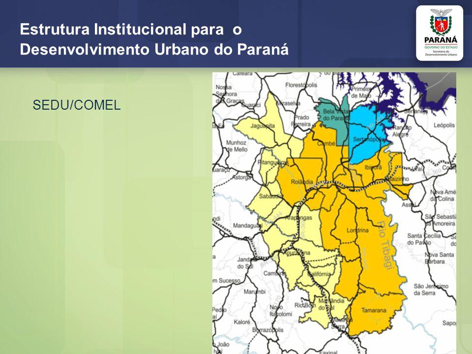Estrutura Institucional para o Desenvolvimento Urbano do Paraná SEDU/COMEL