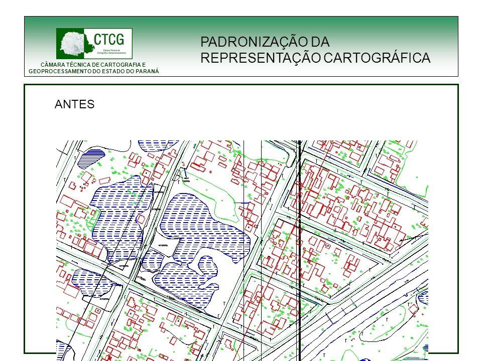 CÂMARA TÉCNICA DE CARTOGRAFIA E GEOPROCESSAMENTO DO ESTADO DO PARANÁ ANTES PADRONIZAÇÃO DA REPRESENTAÇÃO CARTOGRÁFICA