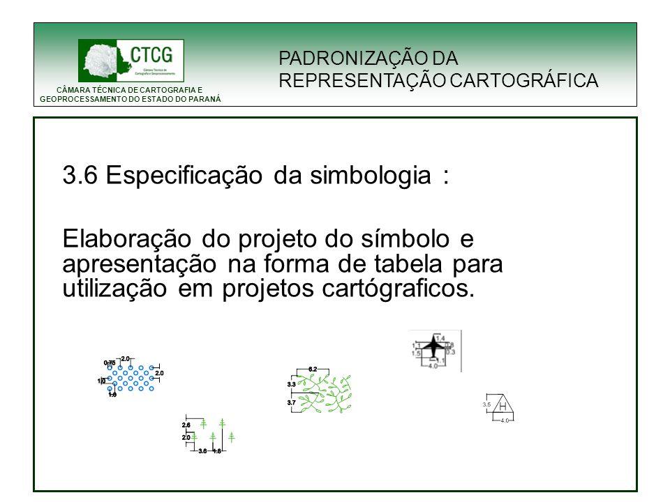 CÂMARA TÉCNICA DE CARTOGRAFIA E GEOPROCESSAMENTO DO ESTADO DO PARANÁ PADRONIZAÇÃO DA REPRESENTAÇÃO CARTOGRÁFICA 3.6 Especificação da simbologia : Elab