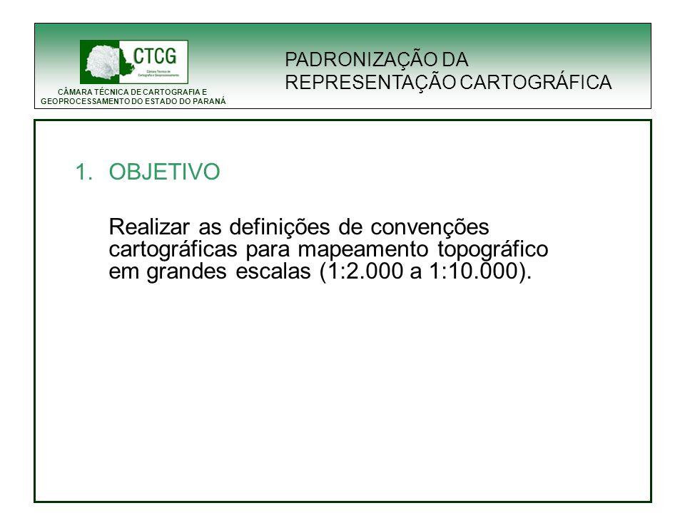 CÂMARA TÉCNICA DE CARTOGRAFIA E GEOPROCESSAMENTO DO ESTADO DO PARANÁ 3.5 Teste de Simbologia Antes PADRONIZAÇÃO DA REPRESENTAÇÃO CARTOGRÁFICA