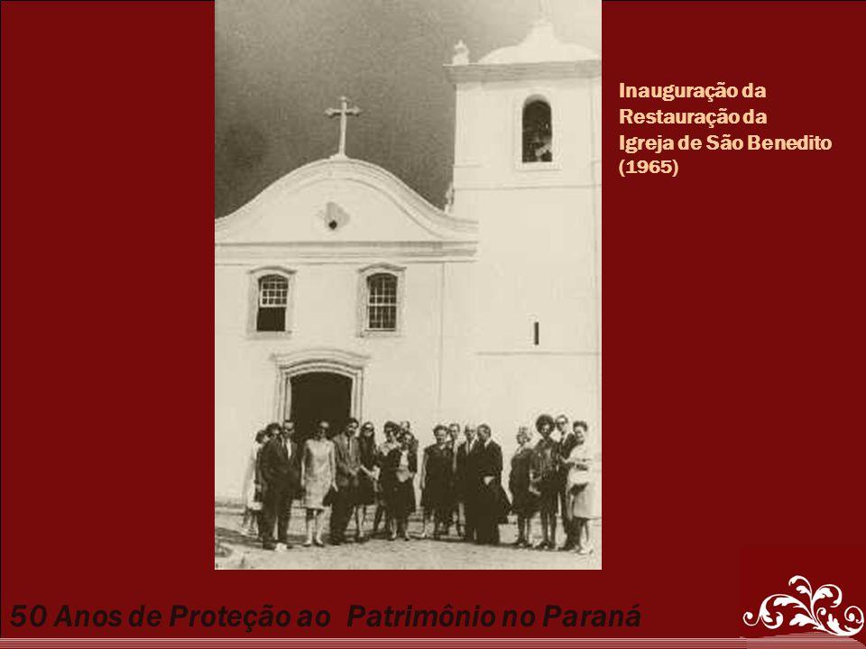 Inauguração da Restauração da Igreja de São Benedito (1965)