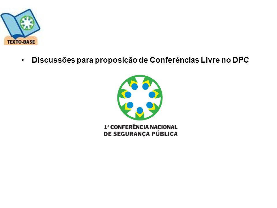 Discussões para proposição de Conferências Livre no DPC