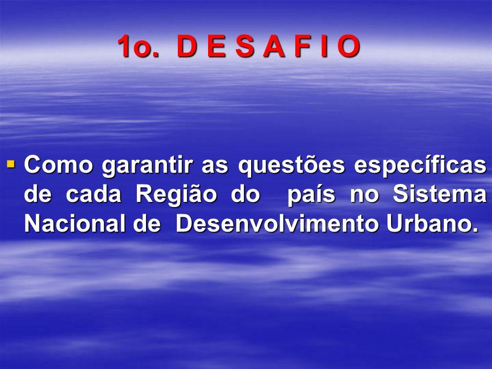 Como garantir as questões específicas de cada Região do país no Sistema Nacional de Desenvolvimento Urbano.