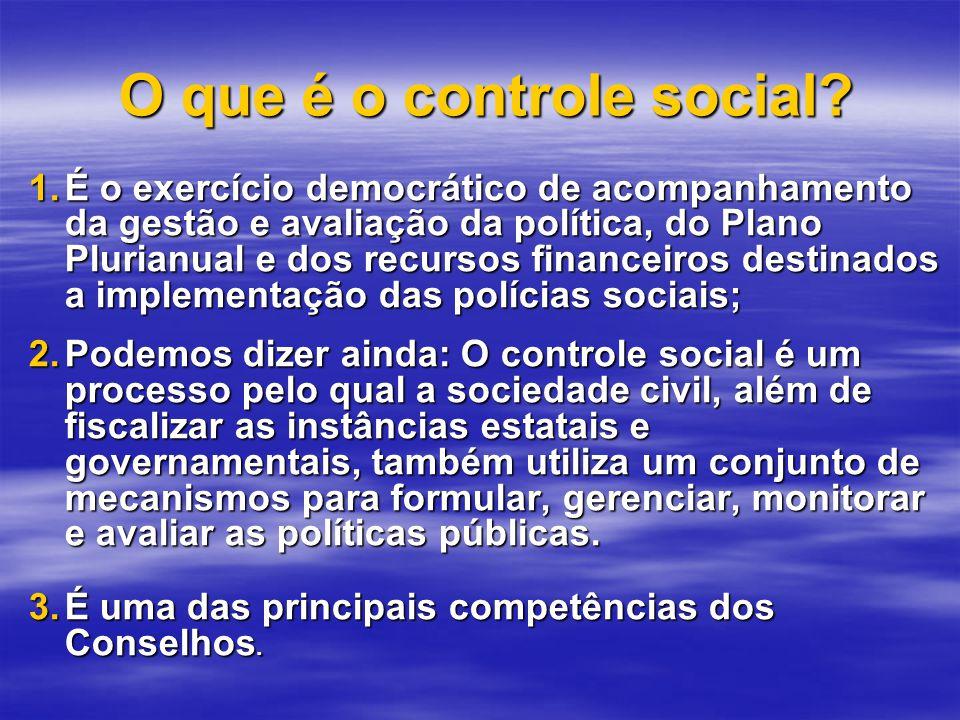 O que é o controle social.O que é o controle social.
