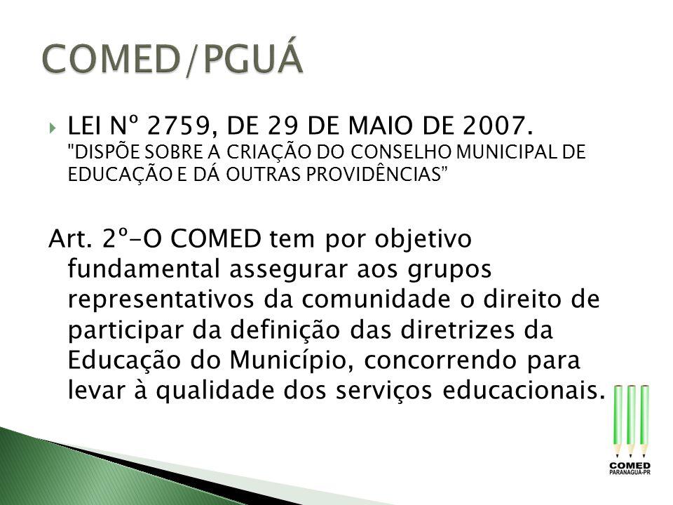 LEI Nº 2759, DE 29 DE MAIO DE 2007.