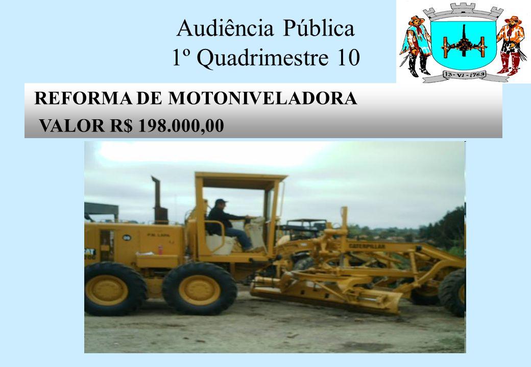 Audiência Pública 1º Quadrimestre 10 REFORMA DA COBERTURA NA ESCOLA SERAFIM DO AMARAL VALOR: R$ 7.830,00 - CONCLUIDO