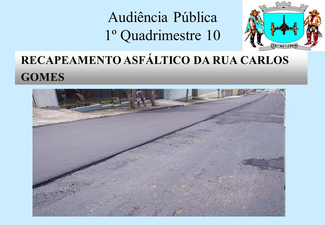 Audiência Pública 1º Quadrimestre 10 REFORMA DA PONTE DOS ALVES