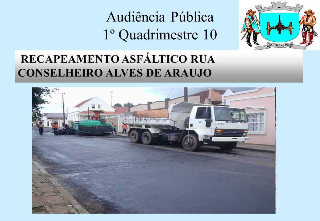 Audiência Pública 1º Quadrimestre 10 RECAPEAMENTO ASFÁLTICO DA RUA CARLOS GOMES