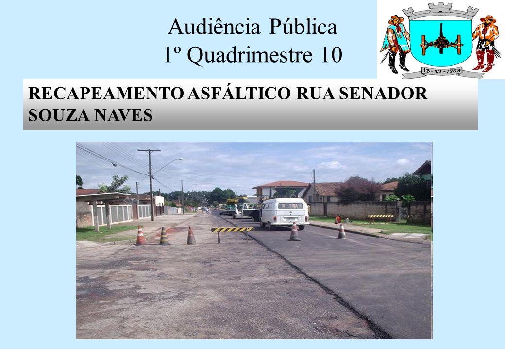 Audiência Pública 1º Quadrimestre 10 RECAPEAMENTO ASFÁLTICO RUA CONSELHEIRO ALVES DE ARAUJO