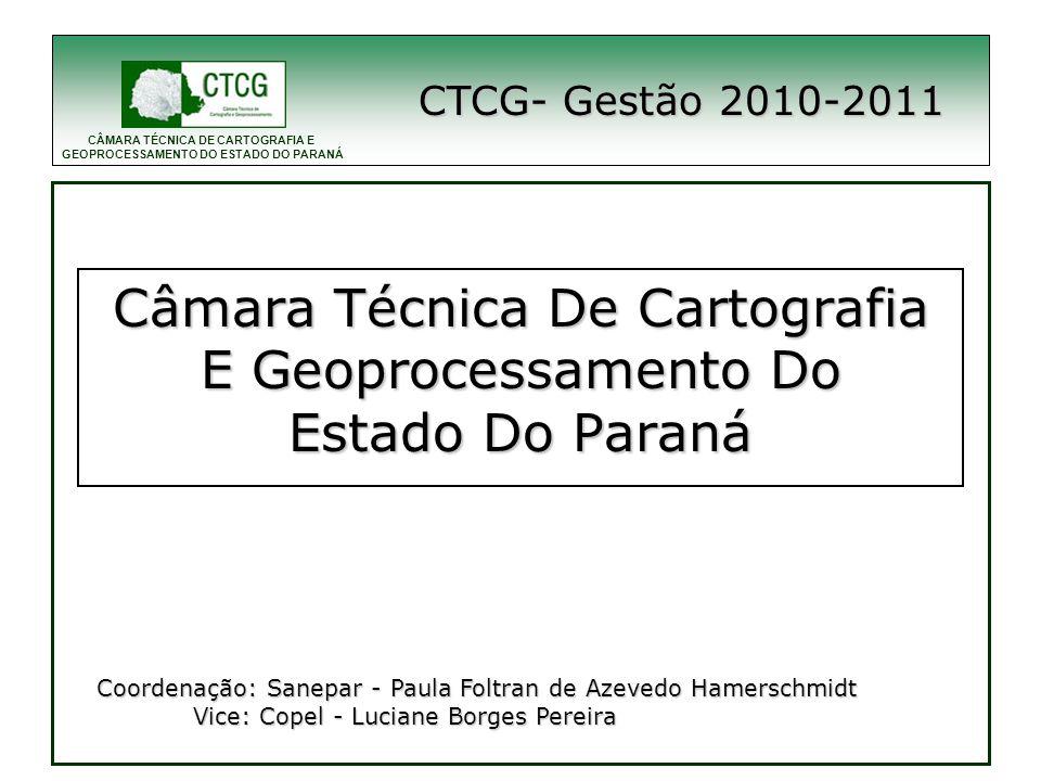 CÂMARA TÉCNICA DE CARTOGRAFIA E GEOPROCESSAMENTO DO ESTADO DO PARANÁ Obrigada.