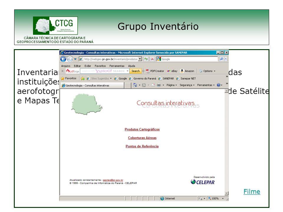 CÂMARA TÉCNICA DE CARTOGRAFIA E GEOPROCESSAMENTO DO ESTADO DO PARANÁ Grupo Padronização 1996- Para a contratação de cartografia foi elaborado pela ctcg o uma recomendação técnica de padronização cartográfica.