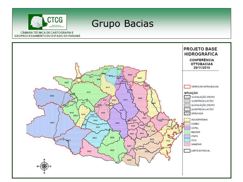 CÂMARA TÉCNICA DE CARTOGRAFIA E GEOPROCESSAMENTO DO ESTADO DO PARANÁ Outros Grupos Grupo Loteamentos Cadastro Rural Modelagem de dados