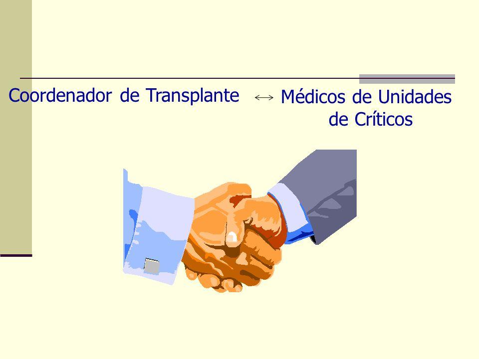 Médicos de Unidades de Críticos Coordenador de Transplante
