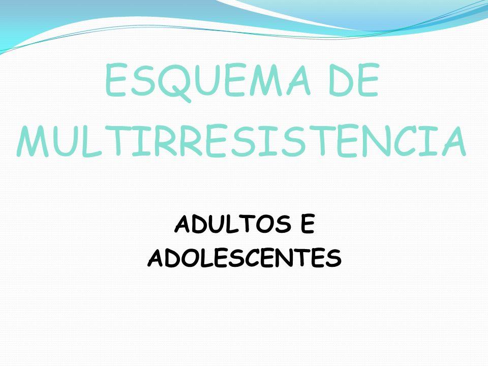ESQUEMA DE MULTIRRESISTENCIA ADULTOS E ADOLESCENTES