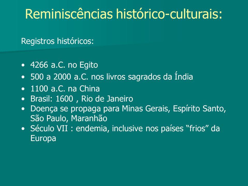 Reminiscências histórico-culturais: Registros históricos: 4266 a.C. no Egito 500 a 2000 a.C. nos livros sagrados da Índia 1100 a.C. na China Brasil: 1