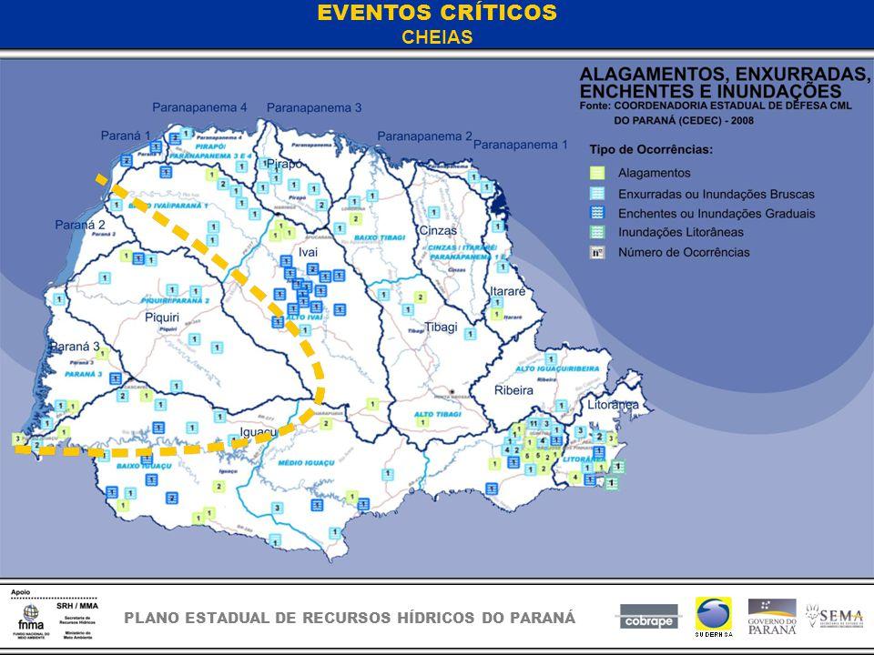 PLANO ESTADUAL DE RECURSOS HÍDRICOS DO PARANÁ EVENTOS CRÍTICOS CHEIAS
