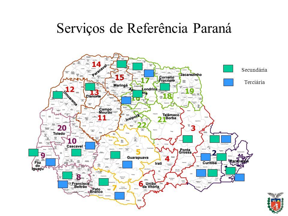 Serviços de Referência Paraná Secundária Terciária