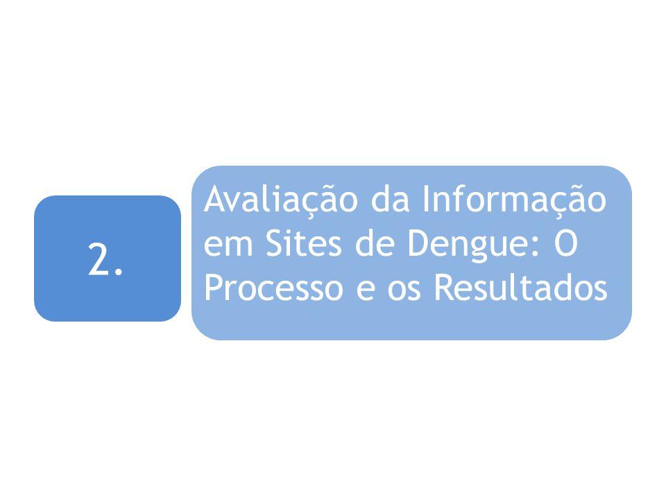 2. Avaliação da Informação em Sites de Dengue: O Processo e os Resultados