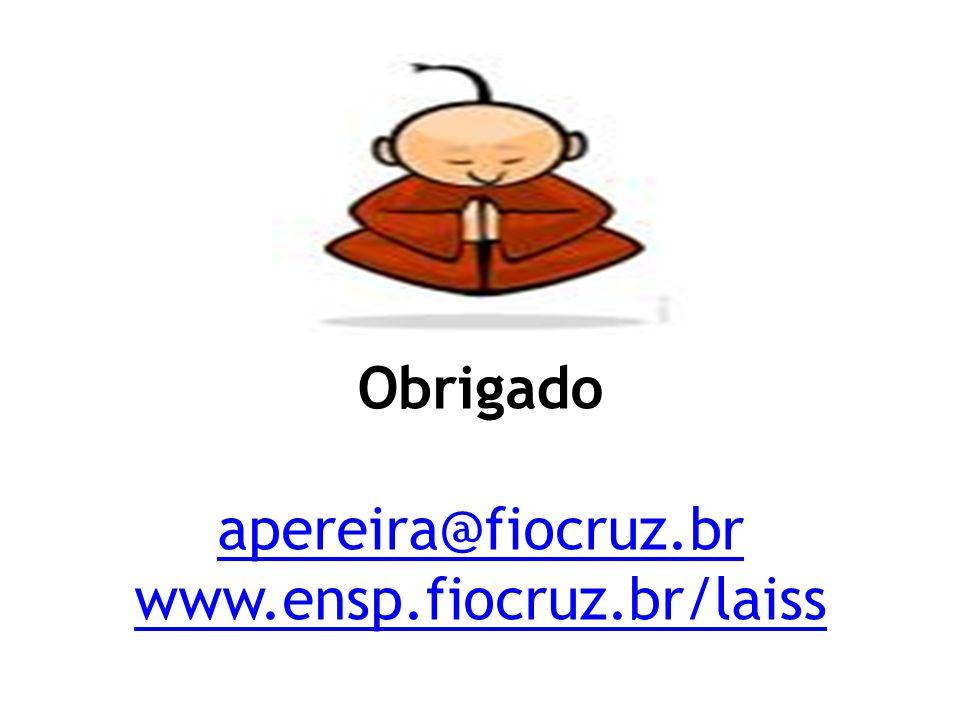 Obrigado apereira@fiocruz.br www.ensp.fiocruz.br/laiss apereira@fiocruz.br www.ensp.fiocruz.br/laiss
