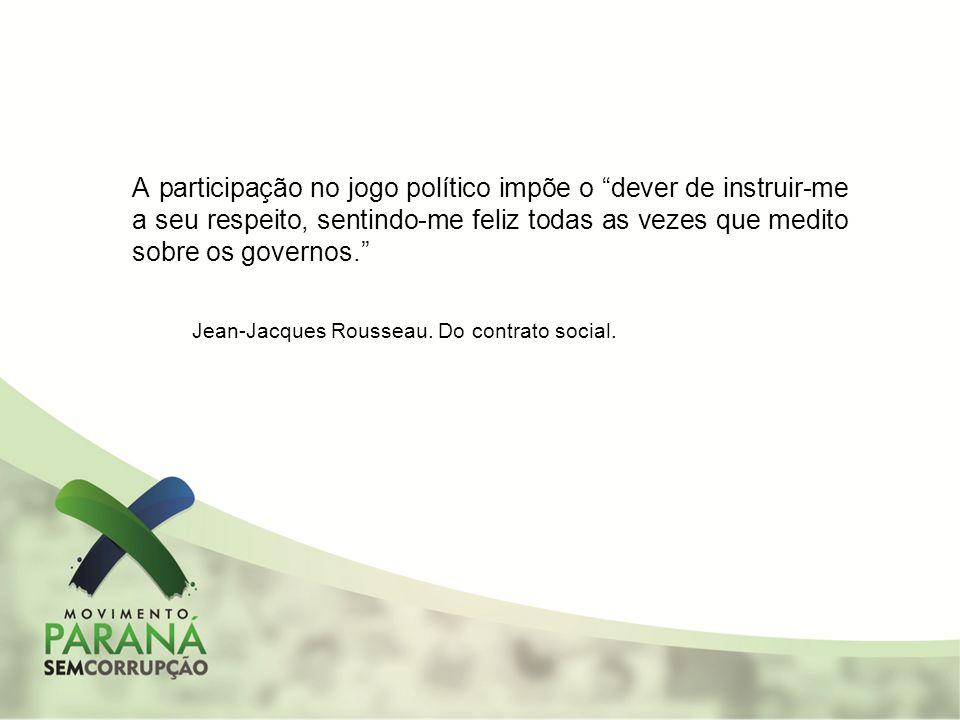 A participação no jogo político impõe o dever de instruir-me a seu respeito, sentindo-me feliz todas as vezes que medito sobre os governos. Jean-Jacqu