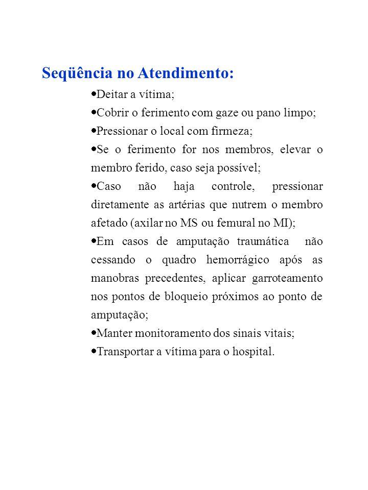 HEMORRAGIA EXTERNA (ARTERIAL E VENOSA)