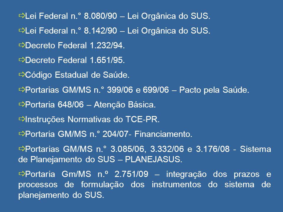 Lei Federal 8.080/90 Art.