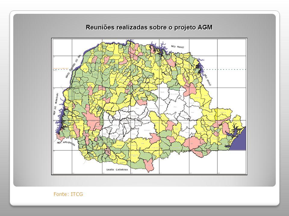 Reuniões realizadas sobre o projeto AGM Fonte: ITCG
