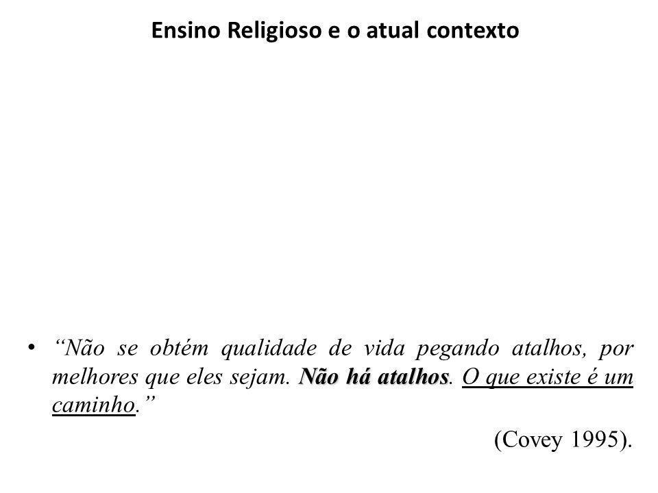 Ensino Religioso e o atual contexto A sociedade atual é, na sua opinião, mais profana ou mais religiosa?...
