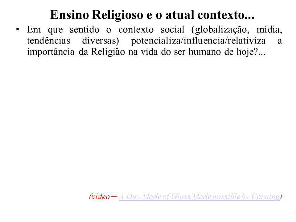 O Papel da Escola e o Ensino Religioso...
