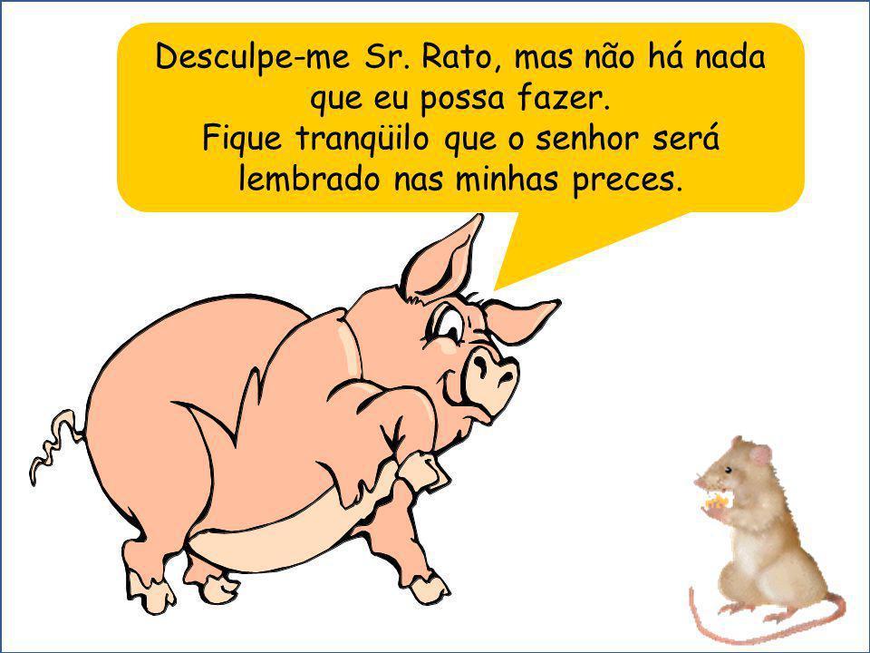 Desculpe-me Sr.Rato, mas não há nada que eu possa fazer.