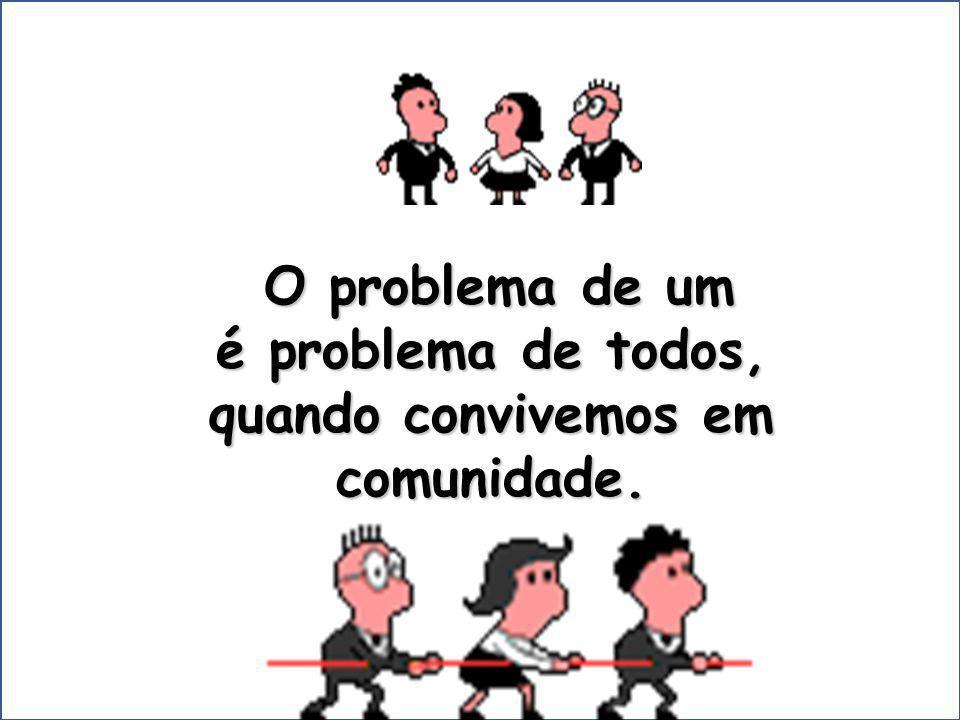 O problema de um O problema de um é problema de todos, é problema de todos, quando convivemos em comunidade.