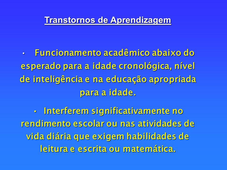 Se caracterizam pela impossibilidade ou dificuldade momentânea para a aprendizagem, por motivos internos ou externos que, quando resolvidos, deixam de