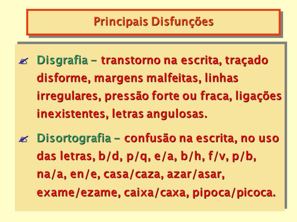 Dislalias - transtorno da fala, sem que haja lesões ou malformações faciais, antes dos 4a 6m fisiológica, após pode ser considerada patológica. Disart