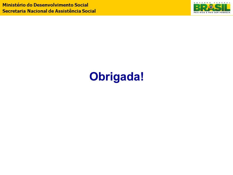 Ministério do Desenvolvimento Social Secretaria Nacional de Assistência Social Obrigada!