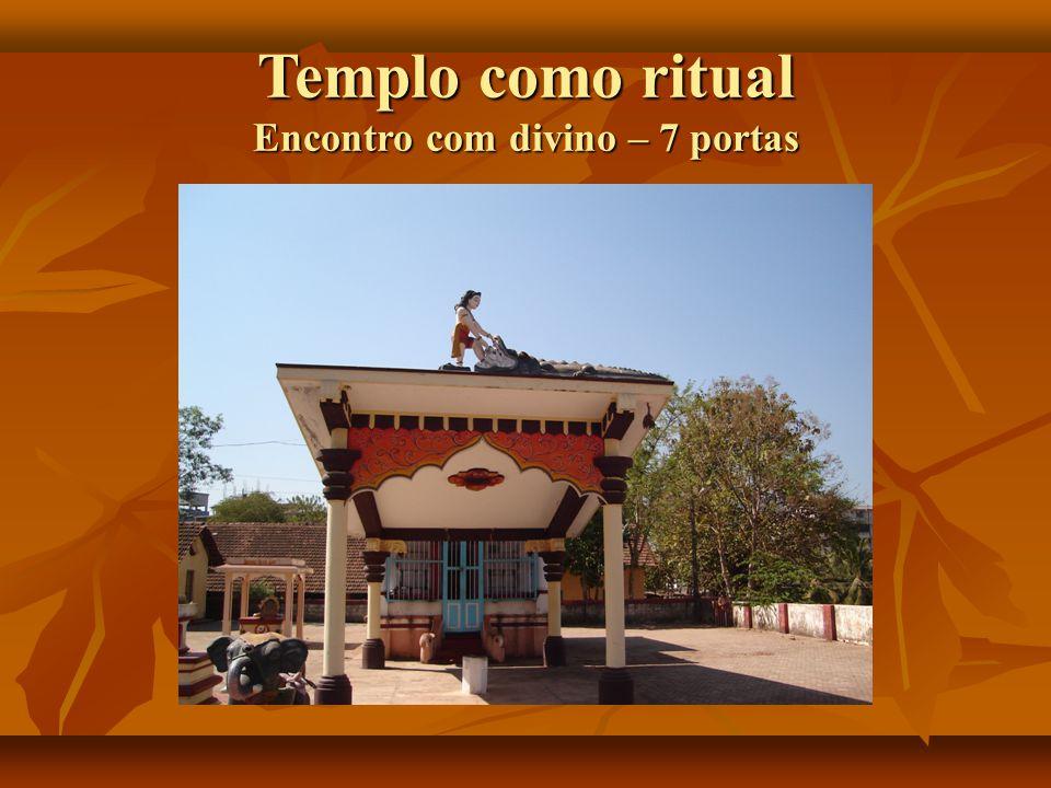 Templo como ritual Encontro com divino – 7 portas