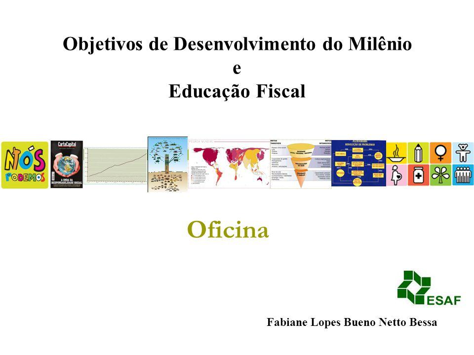 Fabiane Lopes Bueno Netto Bessa Objetivos de Desenvolvimento do Milênio e Educação Fiscal Oficina