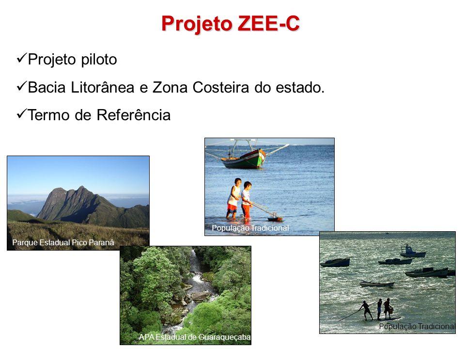 Projeto ZEE-C Projeto piloto Bacia Litorânea e Zona Costeira do estado. Termo de Referência APA Estadual de Guaraqueçaba Parque Estadual Pico Paraná P
